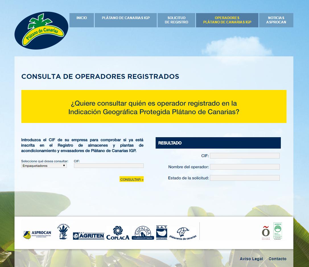 consulta operadores web